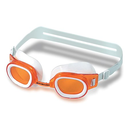 Recreational St. Lucia Orange Goggles Swimming Pool Accessory for Ages 7 and up 6.25