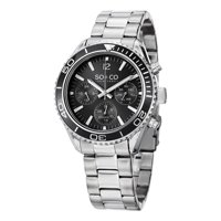 SO&CO New York Men's Stainless Steel Multifunction Bracelet Watch
