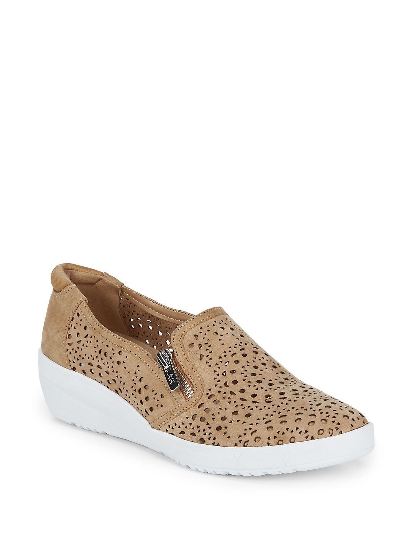 Yvette Suede Demi-Wedge Sneakers
