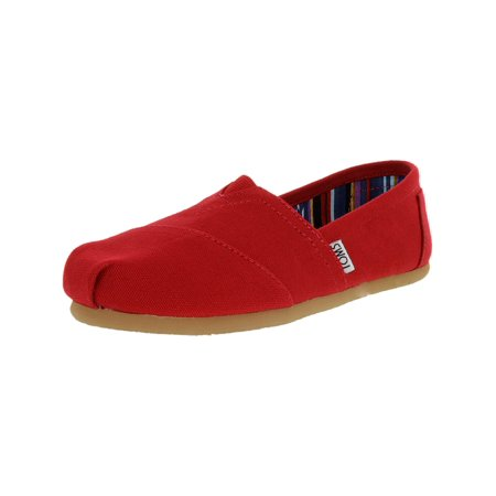 Toms Women's Classic Canvas Red Ankle-High Flat Shoe - - Turquoise Glitter Toms