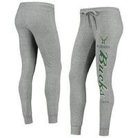 Women's Heathered Gray Milwaukee Bucks Academia Cuffed Pants