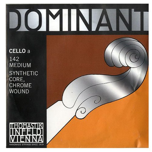Thomastik-Infeld Dominant Nylon Core Cello String, Chrome Wound, Medium Gauge, 4 4 Scale A by Thomastik-Infeld
