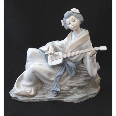 Lladro Shamishen Player 8224 Porcelain Figurine ()