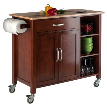 Winsome Mabel Two Tone Kitchen Cart