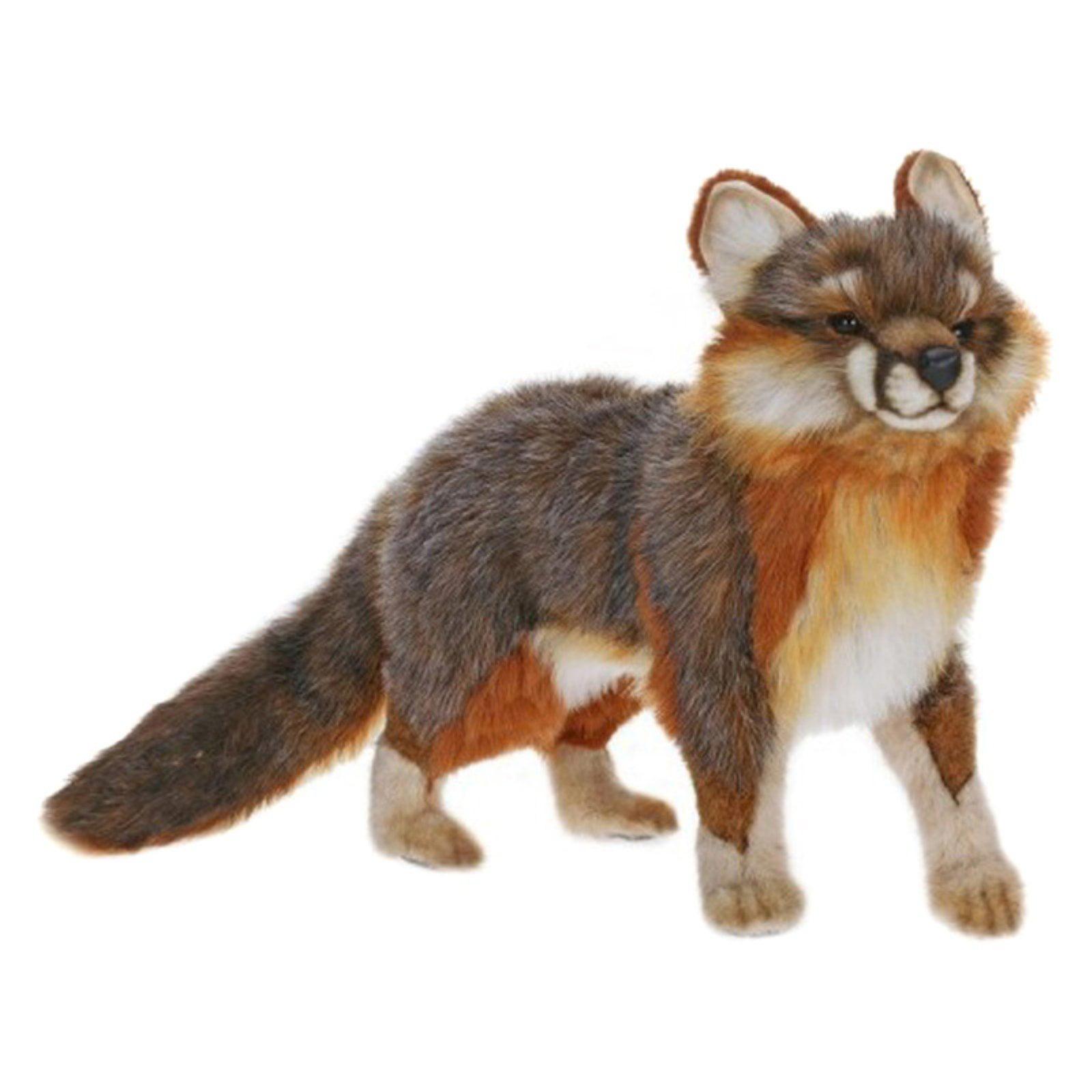 Hansa Gray Fox Plush Toy Walmart Com