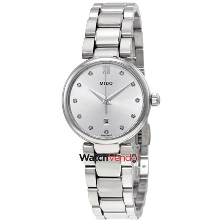 Mido Baroncelli Silver Diamond Dial Ladies Watch M022.210.11.036.00 - image 3 of 3