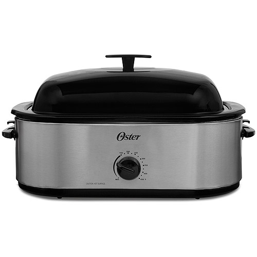Oster® 18 Quart Roaster Oven With High Dome Lid, Stainless Steel Finish,