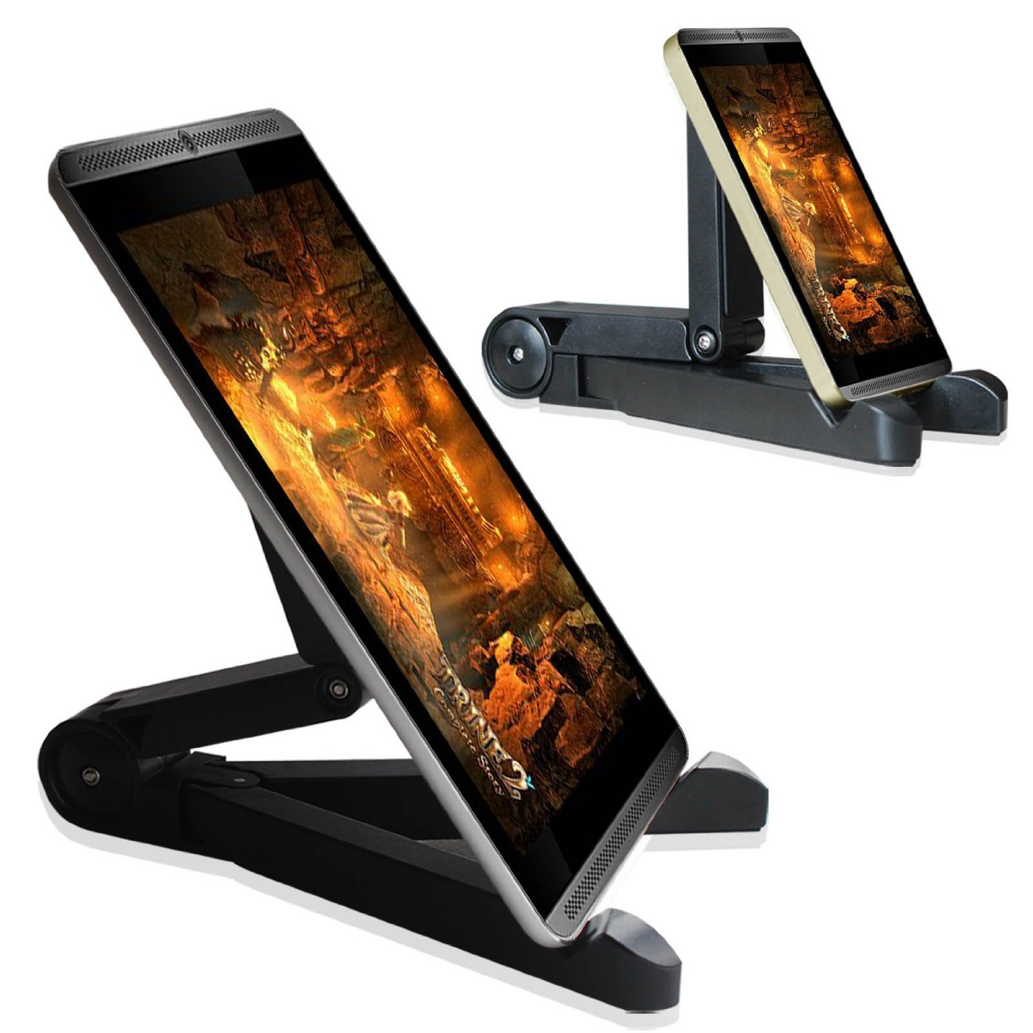 Fintie Multi Angle Travel Stand for All 5-12 inch Tablets, E-readers and Smartphones, fits iPad Pro 11, Samsung etc.