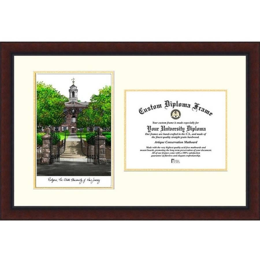 "Rutgers University, The State University of New Jersey, 8.5"" x 11"" Legacy Scholar Diploma Frame"