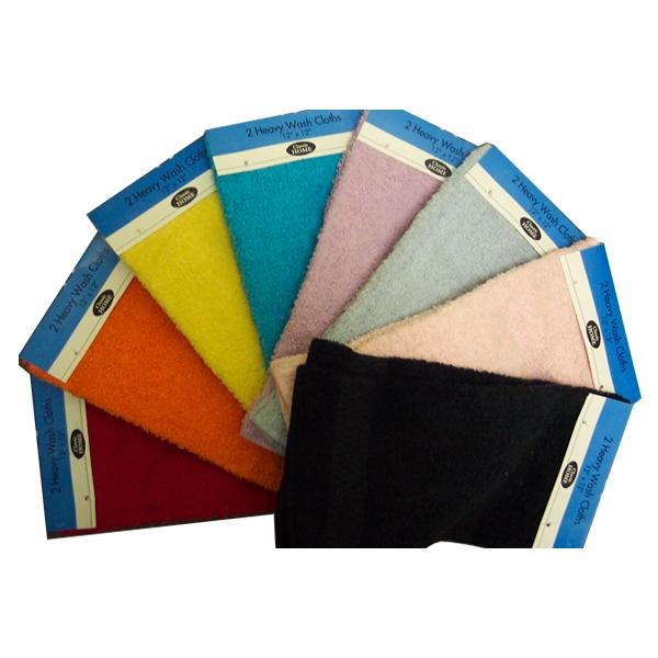 12 x 12 Terry Washcloth - 2 pk Case Pack 144