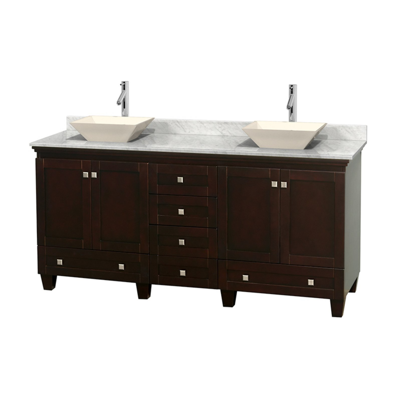 Wyndham Collection Acclaim 72 Inch Double Bathroom Vanity In