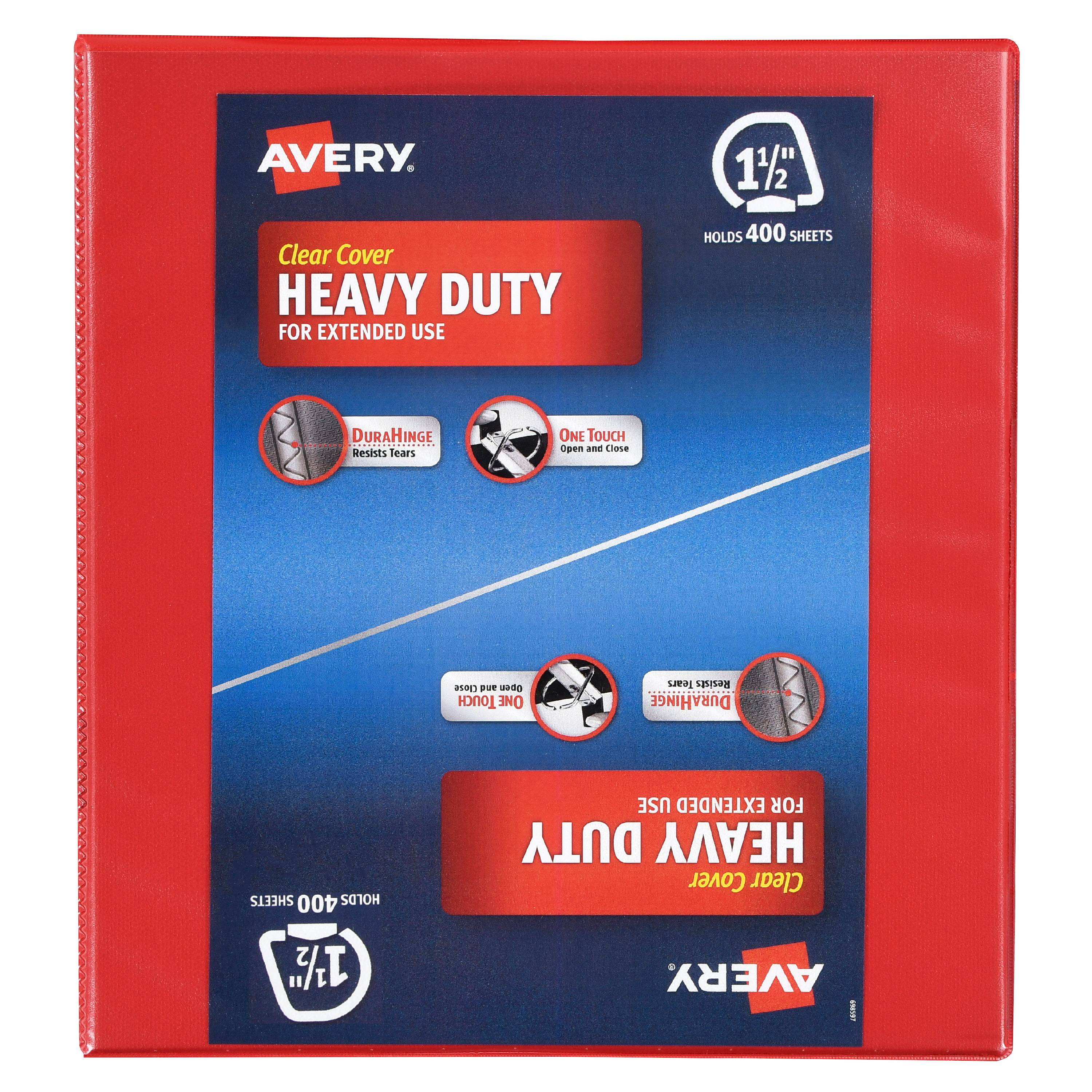 Avery Heavy Duty Clear Cover