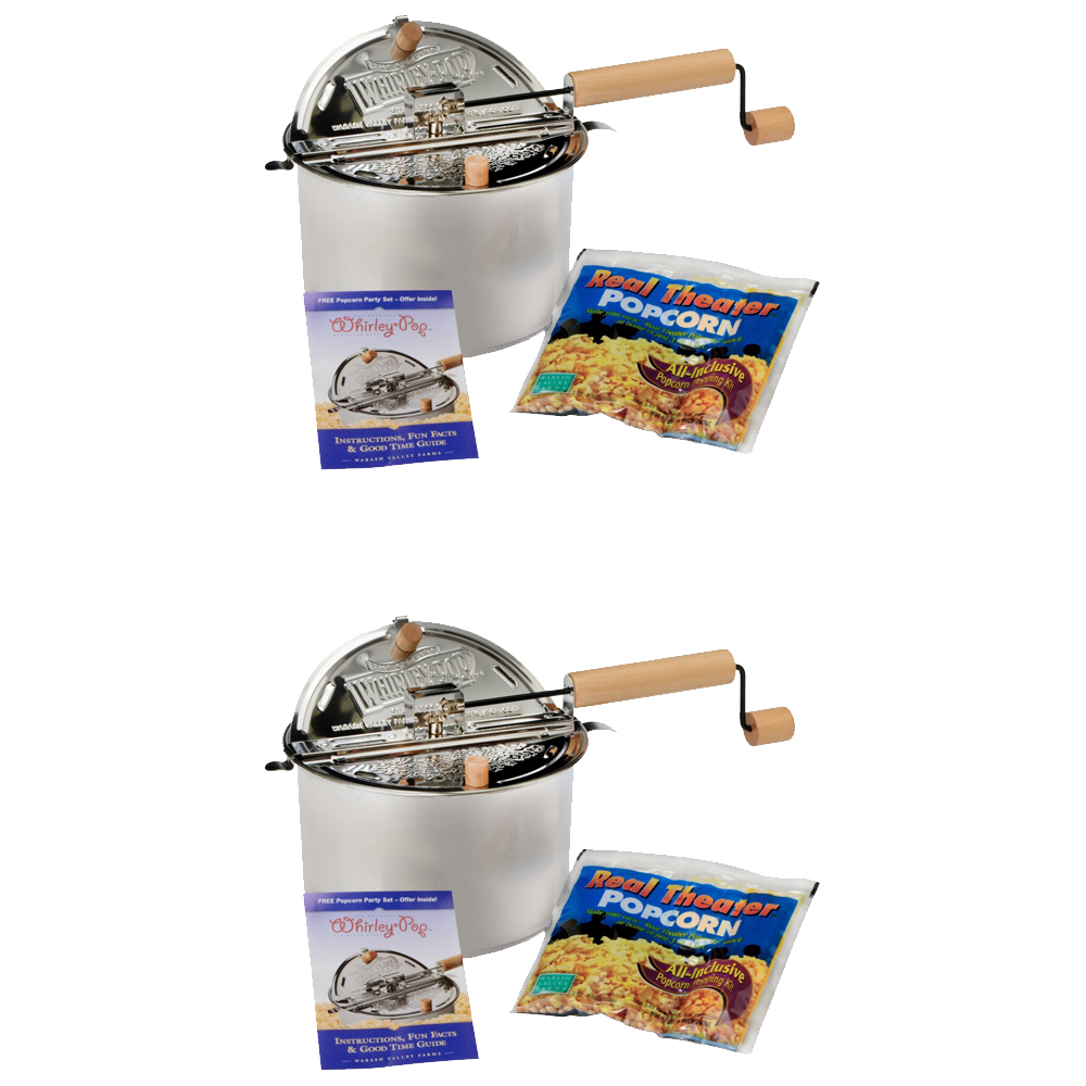 Wabash Valley Farms Whirley Pop Stovetop Popcorn Popper w...