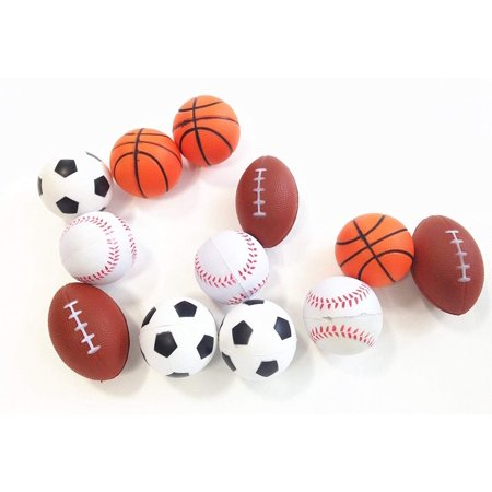 dazzling toys Mini Sports Balls Set of 12 Sports Balls for Kids - Soccer Ball, Basketball, Football, Tennis Ball (1 Dozen)](Soccer Toys)