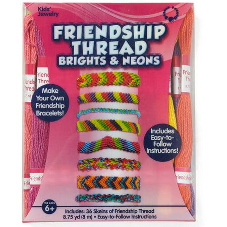 kids craft neon colors friendship thread walmart com