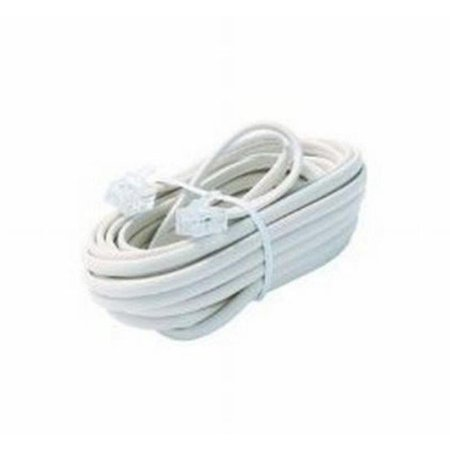 Black Point Products BT-026-WHITE 4 Wire White Telephone Cord, 15