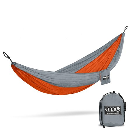 Eagles Nest Outfitters ENO DoubleNest Hammock (Orange/Grey) & Atlas Suspension System