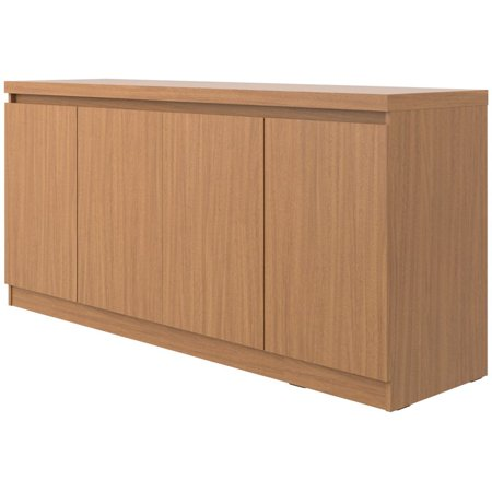 Manhattan Comfort Viennese Buffet in Maple (Dining Room Maple Hutch)