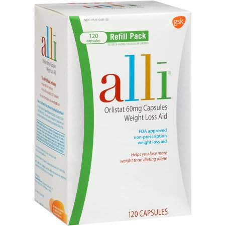 Image of alli FDA-Approved Weight Loss Aid Orlistat Capsules, 60mg, 120 Count