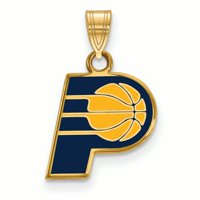 NBA Indiana Pacers 14kt Gold-Plated Sterling Silver Small Enamel Pendant
