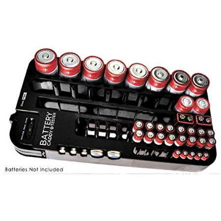 Battery Impedance Tester - Battery Tester Caddy Organizer holds up to 72 batteries wall mount or counter top