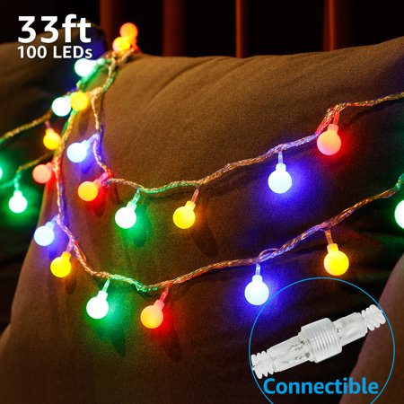 TORCHSTAR LED Globe String Lights, Extendable Waterproof Outdoor String Lights, Christmas Lights for Party, Garden, Patio, Bedroom, Dorm,