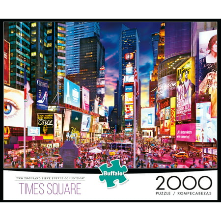 Buffalo Games 2000 Piece Puzzle, Times Square (Halloween Printable Puzzles Games)