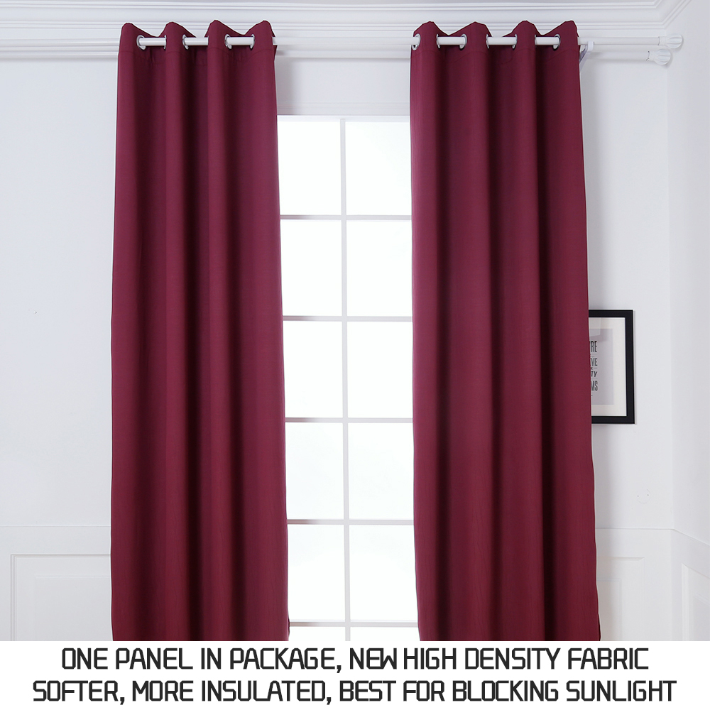 Dream Art Indoor/Outdoor Curtains, Thermal Insulated Blackout Grommet Curtains for Living Room and Patio, Burgundy, W52xL84 Inch, 1 Panel