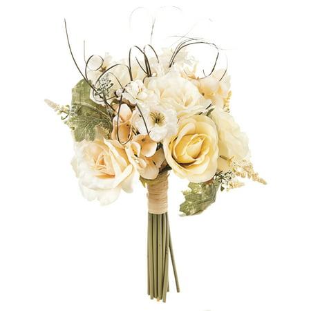 Rose and Hydrangea Bouquet: Cream, 12 x 18 inches ()