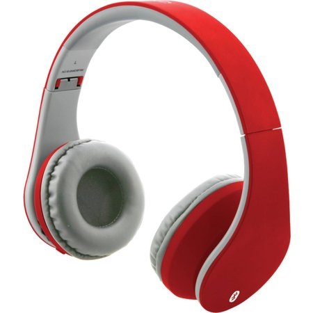 ilive iahb64mr bluetooth headphones with auxiliary input matte red. Black Bedroom Furniture Sets. Home Design Ideas
