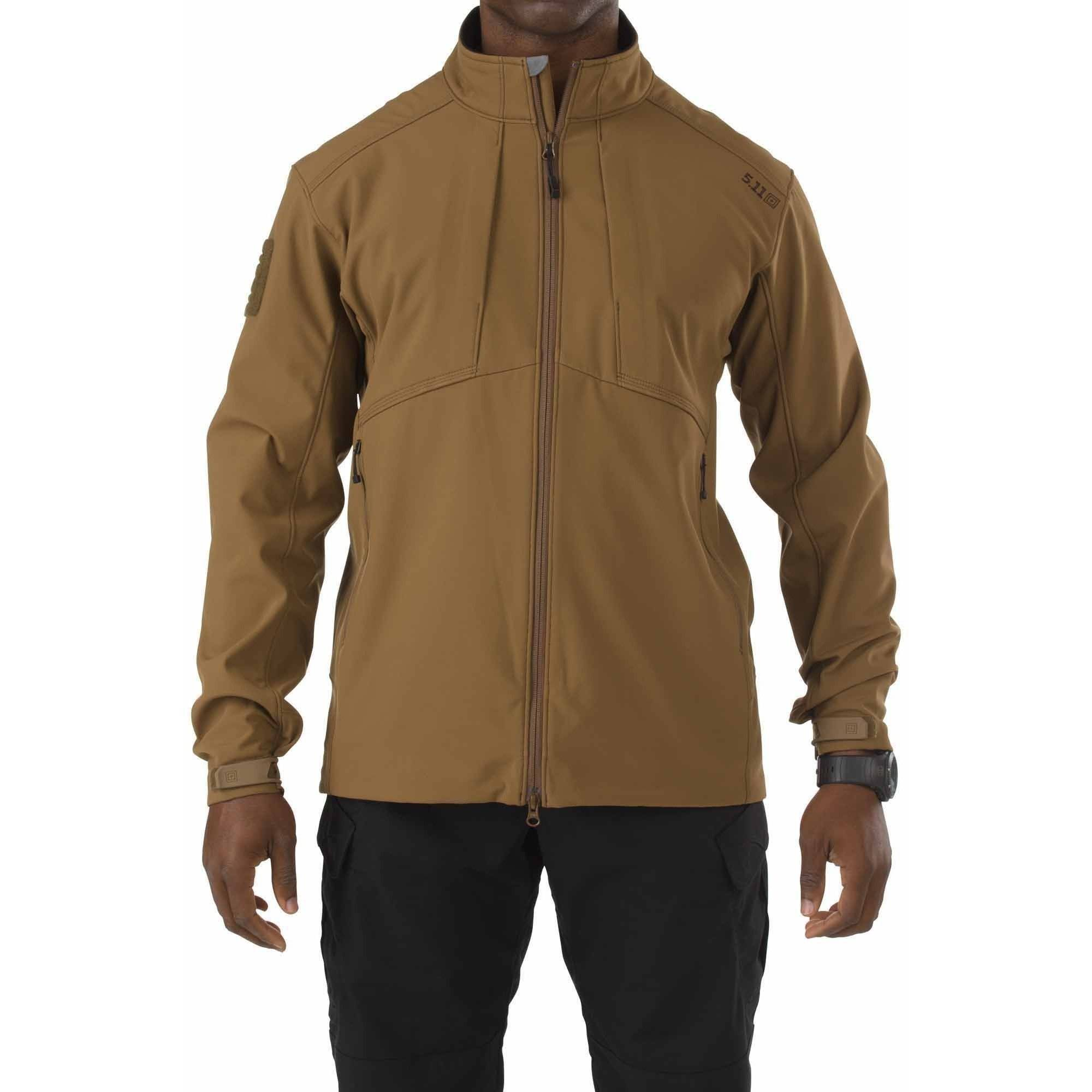 5.11 Tactical Sierra Softshell Jacket, Battle Brown by 5.11 Tactical