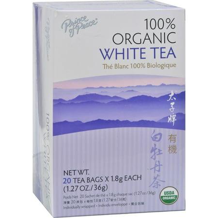 Prince of Peace Prince of Peace Organic Premium White Tea - 20 Tea Bags (100% Organic White Tea)