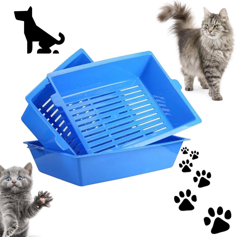 Cat Bedpans Semi Closed Anti-splash Cat Toilet Cat Litter...