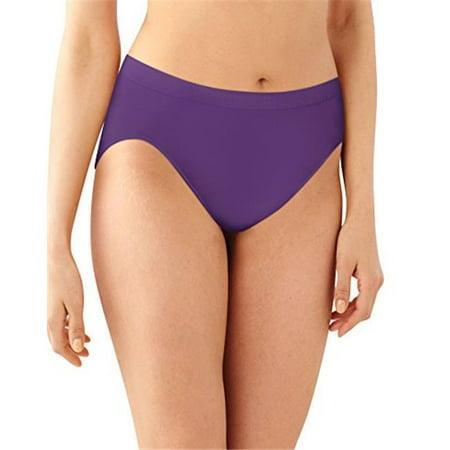 Bali 090563874088 Womens Comfort Revolution Microfiber Hi-Cut Panty Size 9 - Purple Vista, Warm Steel & Blushing Pink - Pack of 3 Microfiber Underwire T-shirt