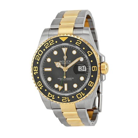 Rolex  Men's GMT Master II Black Dial Watch