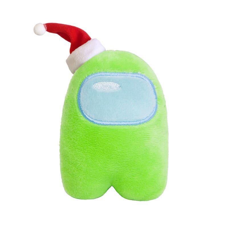 Buflt-in Sound Generator Stuffed Toys Blue Soft Plush Toys Among Us Game Plush Toy Among Us Merch Plush Toy Wearing Christmas Hats