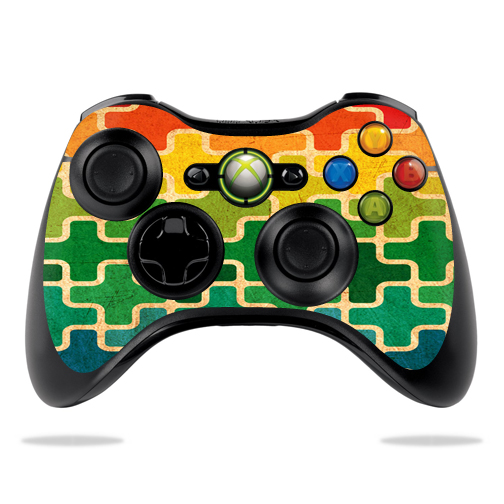 Protective Vinyl Skin Decal Cover for Microsoft Xbox 360 Controller wrap sticker skins Puzzle