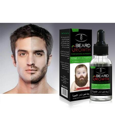Beard Growth Oil, Sky-shop Natural Organic Hair Growth Oil Beard Oil Enhancer Facial Nutrition Moustache Grow Beard Shaping Tool Beard Care Products Hair Loss Products