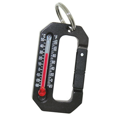 - HikeHitch 1 - Thermometer Carabiner   Camping, Hiking, & Backpacking Accessory