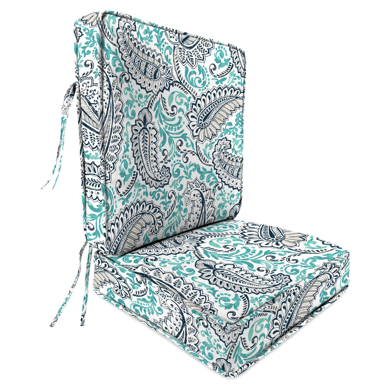 Jordan Manufacturing 22.5 in. 2-Piece Deep Seat Outdoor Shannon Chair Cushion