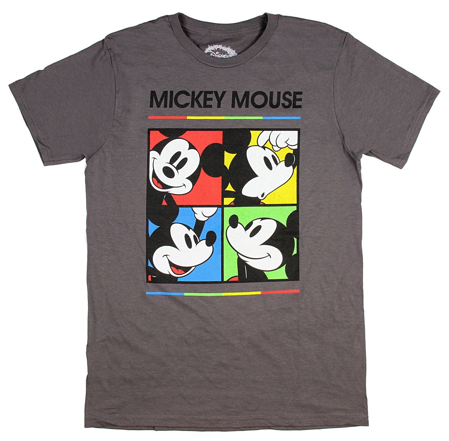 Disney Men's Mickey Mouse Expression Color Grid Licensed T-Shirt
