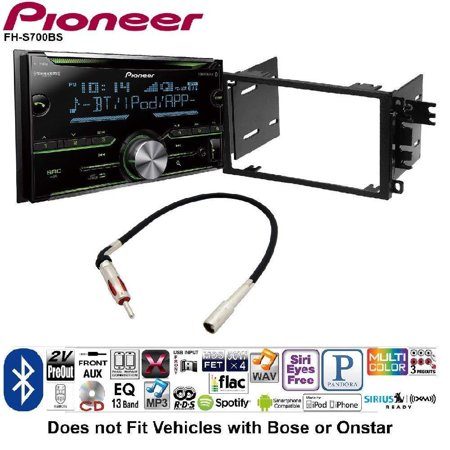 Pioneer Double DIN CD Receiver Built-in Bluetooth, and SiriusXM-Ready on