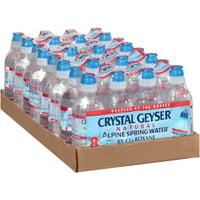Crystal Geyser Alpine Spring Water Sport Cap Water Bottle, 8 oz, 32 Ct