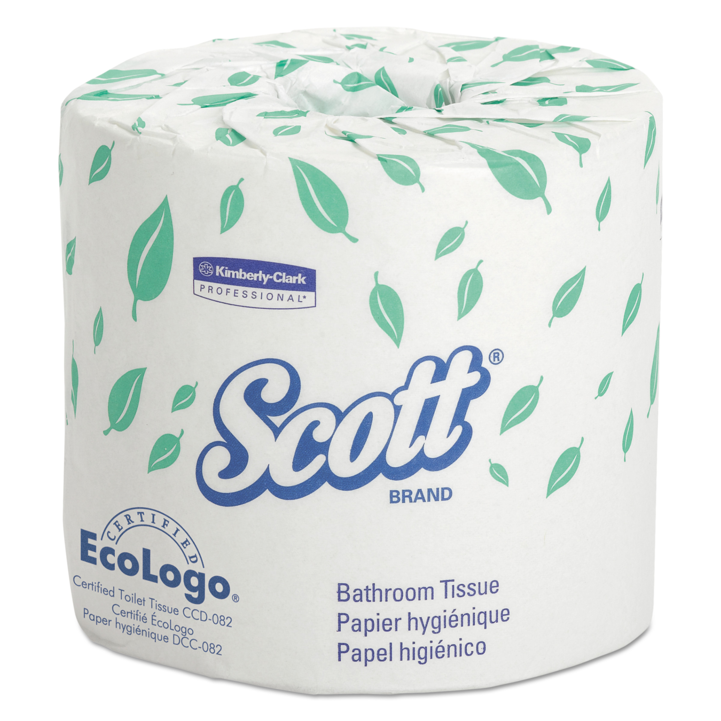 Scott Standard Roll Bathroom Tissue, 1-Ply, 1210 Sheets/Roll, 80 Rolls/Carton