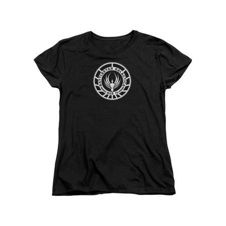 Battlestar Galactica BSG 75 Badge Costume Sci Fi TV Women's T-Shirt - Sci Fi Costumes Women