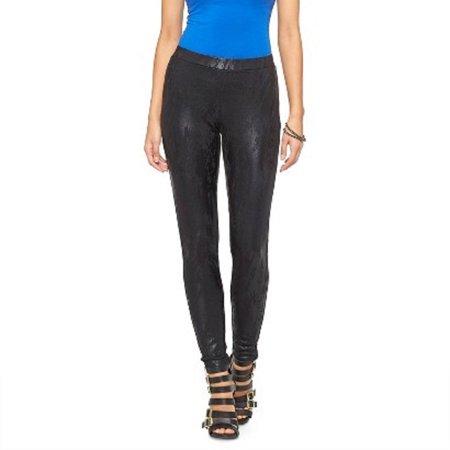 Ambar Women's Foil Skinny Black XS Ponte Pant (Best Shoes For Skinny Pants)