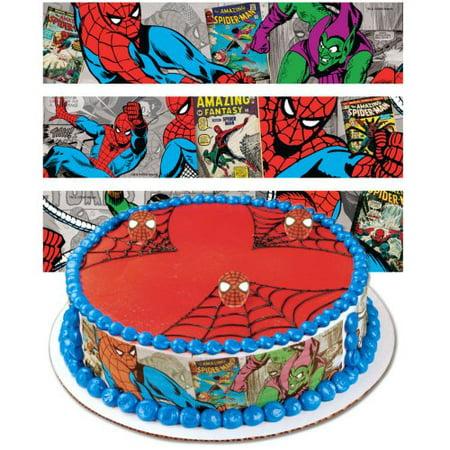 Spider Man Cake (Spiderman Designer Prints Cake Edible)