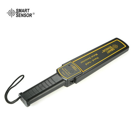 SMART SENSOR High Sensitivity Handheld Metal Detector Security Scanner Scanning Tool with Earphone Buzzer Vibration Automatic Tuning