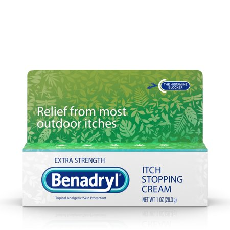 Benadryl Extra Strength Itch Relief Cream, Topical Analgesic, 1 oz (Itch Relief Tea Tree)