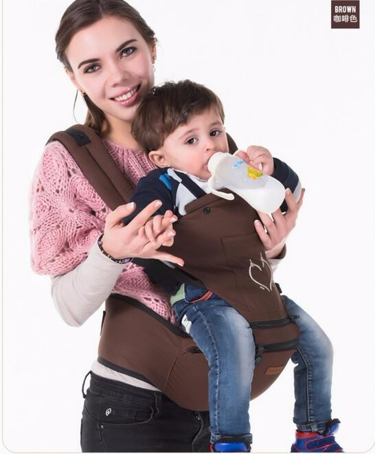 Breathable Baby Carrier Wrap Sling Baby Backpacks Adjustable Shoulder Carriage by VirtualStoreUSA.com